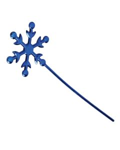 "Veil Entertainment Winter Ice Queen Snowflake Wand, 10""x2.75"", Dark Blue"