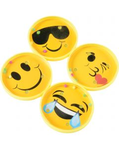"US Toy Assorted Emoji Pill Puzzle 6pc 2"" Board Game, Yellow Black"