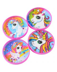 "US Toy Rainbow Unicorn Pill Puzzle 2"" Board Game, Pink White, 6 Pack"