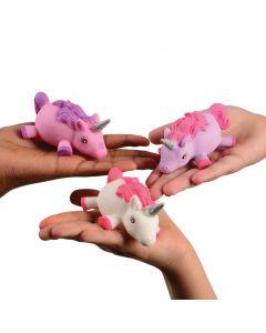 "Magical Light Up Squishy Unicorn Puffer 3.75"" LED Toy, Pink Purple White"