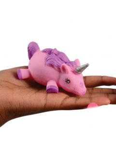 "Magical Light Up Squishy Unicorn Puffer 3.75"" LED Toy, Pink Purple"