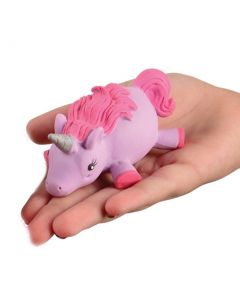 "Magical Light Up Squishy Unicorn Puffer 3.75"" LED Toy, Purple Pink"