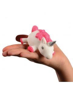 "Magical Light Up Squishy Unicorn Puffer 3.75"" LED Toy, White Pink"