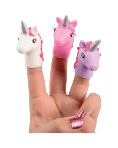 "Magical Unicorn Novelty Toy 2.5"" Finger Puppets, Pink Purple White, 12 Pack"