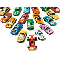 "Classic Die-Cut Toy Race Car Set 2.5"" Play Vehicles, Assorted Colors, 12 Pack"