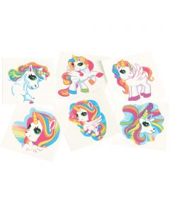 "Unicorn Favor Christmas Stuffer 1.5"" Temporary Tattoos, Multicolors, 144 Pack"