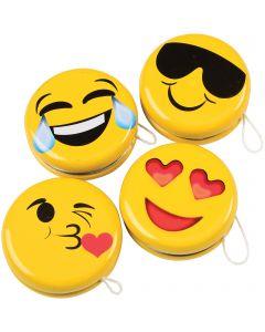 "US Toy Laugh and Tears Emoji Smile Yo-Yos 2"" Stocking Stuffer, Yellow Black"