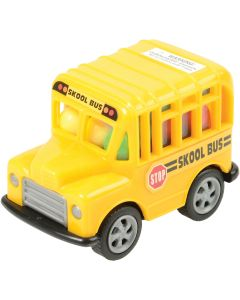 "U.S. Toy Candy Filled Pull Back School Bus 2.75"" Play Vehicles, Yellow, 12 Pack"