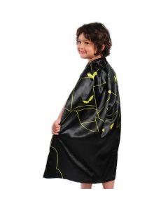 "Kid Fun Halloween Bat Dress Up Costume Cape, Black Yellow, One-Size 30"""