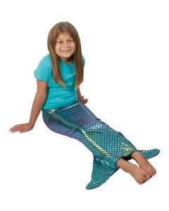 US Toy Iridescent Girls Mermaid Tail Costume Bottoms, Blue Purple, Medium  43322