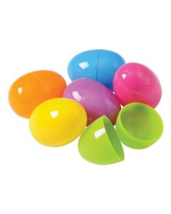"Snap Close Bright Color Fillable 2.5"" Plastic Easter Eggs, Assorted, 50 Pack"