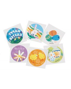 "US Toy Kids Easter Themed 2"" Temporary Tattoos, Multicolors, 144 Pack"