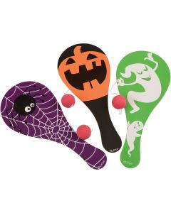 "US Toy Halloween Character Design Paddle Ball 9"" Non-Food Treats, Assorted"