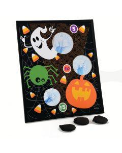 """Halloween Ghost, Bat, & Pumpkin Bean Bag Toss 4pc 23.5"""" Carnival Game, Black"""