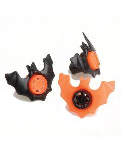 "Bat Siren Kazoo Whistles Halloween 2"" Non-Food Treats, Orange Black, 12 Pack"