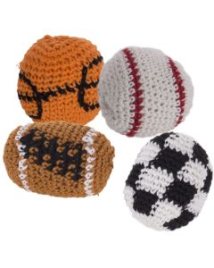"Knitted Yarn Sport ball kickballs Hacky Sack 1.75""diam Party Favor"