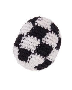 "Sports Ball Soccer Kickball Hacky Sack 1.75"" Party Favor, Black White"