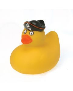 "Large Pirate Carnival Prize Vinyl Rubber Ducky 4"" Party Favor, Yellow Black"