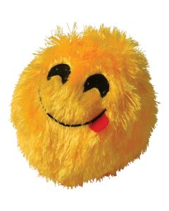 """Plush Tongue Stuck Out Emoji Inflatable Ball 6"""" Inflatable Toys, Yellow Black"""