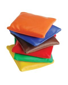 "US Toy 3.5"" Carnival Game Classic Vinyl Bean Bags, Assorted Colors, 12 Pack"