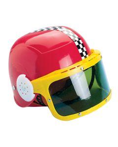 "US Toy Kids Motorcycle Racing Stripes Costume Helmet, Red Yellow, 7.25"""