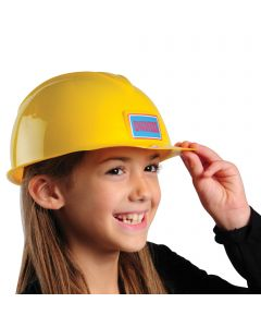 US Toy Hard Plastic Construction Costume Helmet, Yellow Red, One-Size