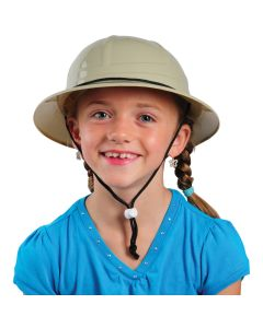 US Toy Children's Hard Plastic Safari Pith Costume Helmet, Tan Black, 10""