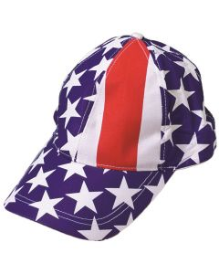 Patriotic American Flag 4th of July Baseball Hat, Red White Blue, Adjustable