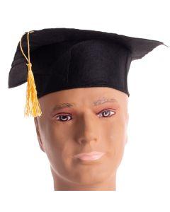 "US Toy Economy Graduation Caps w/ Tassel Hats, Black, One-Size 8"", 12 Pack"