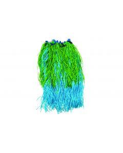 """Tropical Luau Adult Hula Skirt Costume, 35"""" Waist 32"""" Length, Blue Green"""
