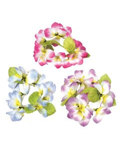 US Toy Luau Orchid Type Bracelets, Pink Blue Purple, One-Size, 12 Pack