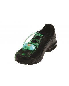 """US Toy Flashing Light-Up Shoelaces 2pc LED Shoelaces, Green, One Size 33"""""""