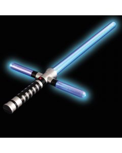 "US Toy Light-Up Space Wars Cross Sword w Sound 28"" LED Saber, Blue"