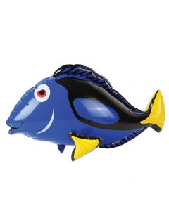 "US Toy Blue Tang Fish Tropical Luau Party Decoration 27"" Inflatable Toy, Blue"