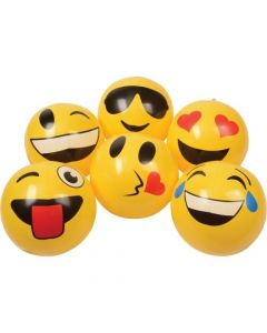 """US Toy Emoticon Inflate Balls, Assorted Style 8-9"""" diam. Inflatable Toy"""