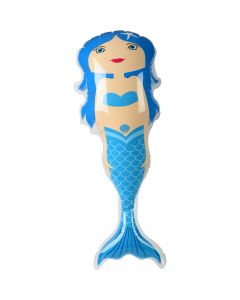 "Veil Entertainment Vinyl Fun Pretty Girl Mermaid  32.5"" Inflatable Toy, Blue"