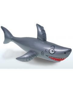 """US Toy Hawaiian Luau Summer Party Shark 40"""" L Inflatable Toy, Silver Blue"""