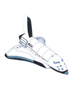 """US Toy NASA Astronaut Space Shuttle Replica 17"""" Inflatable Toy, White Black"""