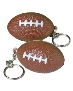 US Toy Foam and Metal Keyring Classic Football 1.5 in Keychain, Brown