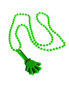 US Toy All Sports Noise Maker Clapper Necklace 32 in Necklace, Green