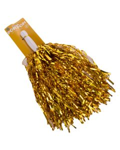 """US Toy Football Game Day School Spirit Team Colors 10"""" Pom Poms, Gold"""