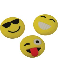 "US Toy Emoji Erasers 1.25"" Party Favors, Assorted Colors, 12 Pack"