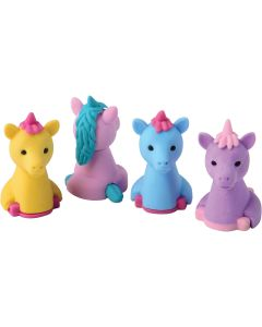 "US Toy Pastel Unicorn Erasers 1.25"" Party Favors, Assorted Colors, 6 Pack"