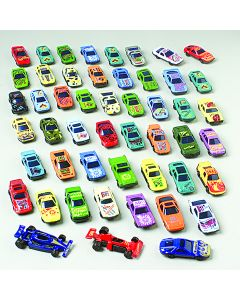 "US Toy Race Car Gift Set Die-Cast 2.5"" Vehicle Playset, Assorted Colors, 50 Pack"