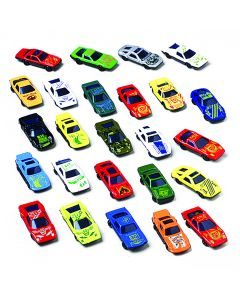 """US Toy Race Car Gift Set Die-Cast 2.5"""" Vehicle Playset, Assorted Colors, 25 Pack"""