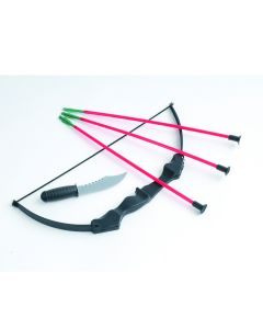 US Toy Ninja Costume Bow and Arrow 5pc Set w Knife, Black Red, 15""