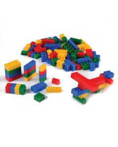 US Toy Block Mania Assorted Shapes & Colors 100pc Building Block Set