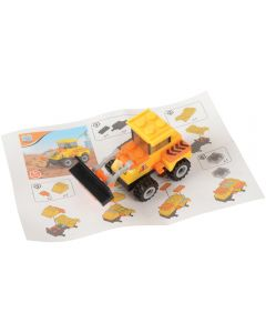 Bulldozer Front-End Loader Construction Bricks Building Block Set, Yellow Black
