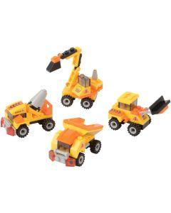 Dump Truck Carry Car Construction Boys Building Block Set, Yellow Black