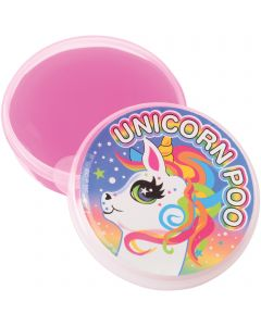 """US Toy Unicorn Poo Sticky Goop Slime Kid Toy 2.375"""" Party Favors, Pink, 12 Pack"""